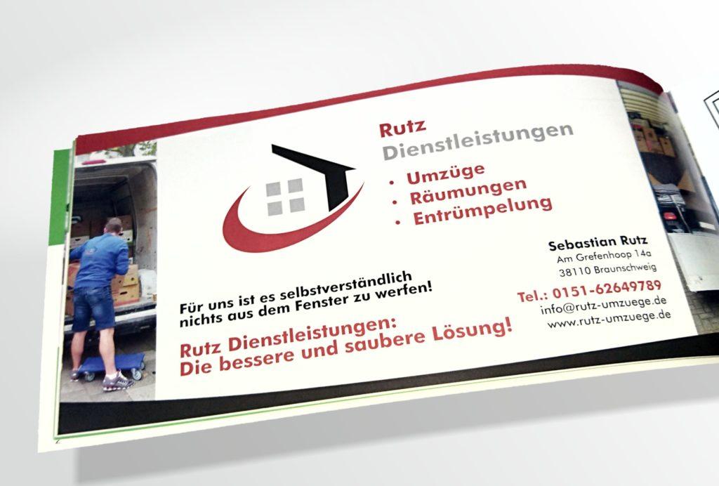 Anzeige Rutz Dienstleistungen